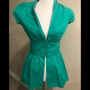 ARDEN B Green Blouse